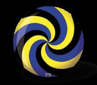Brunswick Viz-a-Bal Spiral Zwart/Blauw/Geel